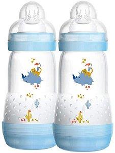 Mamadeira Mam Easy Start - 260Ml (2+ Meses) - Embalagem Dupla - Azul