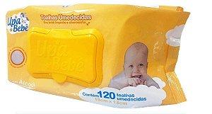 Toalha Umedecida Upa Bebe c/ tampa 120 Unidades