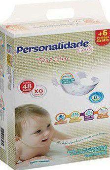 FRALDA PERSONALIDADE BABY TOTAL CARE XG C/48 UNIDADES