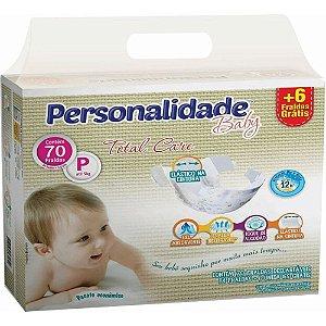 FRALDA PERSONALIDADE BABY TOTAL CARE P C/70 UNIDADES