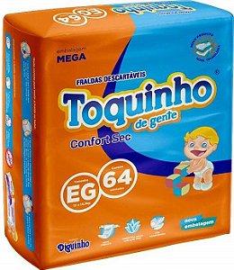 FRALDA TOQUINHO CONFORT SEC EG C/64 UNIDADES