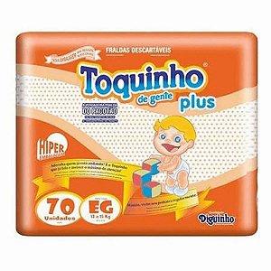 FRALDA TOQUINHO PLUS HIPER EG C/70 UNIDADES