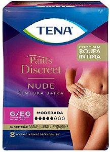 ROUPA ÍNTIMA TENA PANTS DISCREET NUDE G-EG C/ 8 UNIDADES