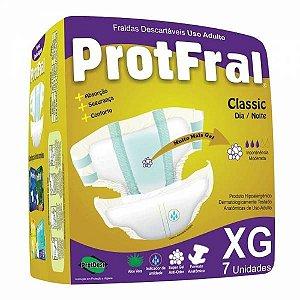 FRALDA ADULTO PROTFRAL CLASSIC TAM XG C/ 7 UNIDADES