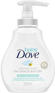 SABONETE DOVE BABY LIQUIDO HIDRATAÇÃO SENSIVEL 200ML
