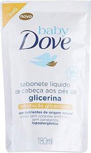 SABONETE DOVE BABY LIQUIDO GLICERINA REFIL 180ML