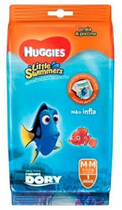 FRALDA HUGGIES LITTLE SWIMMERS M C/1 UNIDADE