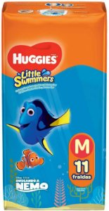 FRALDA LITTLE SWIMMERS HUGGIES - M C/ 11 UNIDADES