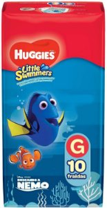 FRALDA LITTLE SWIMMERS HUGGIES - G C/ 10 UNIDADES