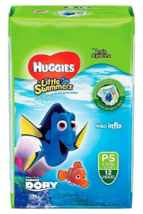 FRALDA HUGGIES LITTLE SWIMMERS - P C/ 12 UNIDADES