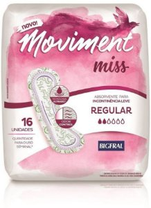 ABSORVENTE MOVIMENT MISS REGULAR C/16 UNIDADES