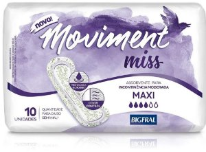 ABSORVENTE MOVIMENT MISS MAXI C/10 UNIDADES