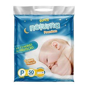 FRALDA FEROZ BABY NOTURNA PREMIUM P C/50 UNIDADES
