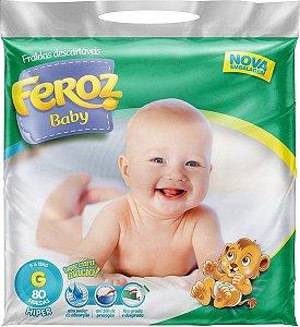FRALDA FEROZ BABY DIA E NOITE HIPER G C/80 UNIDADES