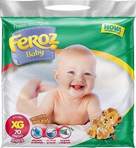FRALDA FEROZ BABY DIA E NOITE HIPER XG C/70 UNIDADES