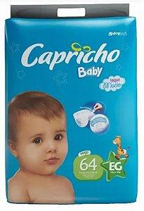FRALDA CAPRICHO BABY MEGA EG C/64 UNIDADES