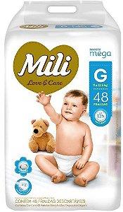 FRALDA MILI LOVE & CARE MEGA G C/48 UNIDADES