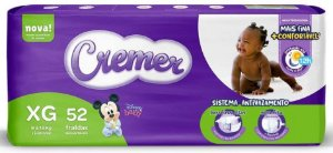 FRALDA CREMER DISNEY BABY MAGIC CARE XG C/52 UNIDADES