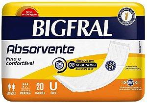 ABSORVENTE BIGFRAL UNISSEX ÚNICO C/20 UNIDADES