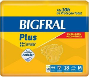 FRALDA ADULTO BIGFRAL PLUS M C/18 UNIDADES