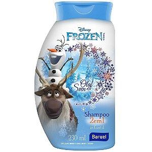 SHAMPOO FROZEN OLAF & SVEN 2 EM 1 BARUEL 230ML
