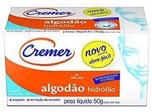 ALGODÃO HIDRÓFILO CREMER 50G