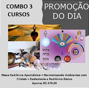 1.1. Curso da Mesa Quântica Apométrica + Harmonização Ambientes + Radiestesia e Radiônica Básico .