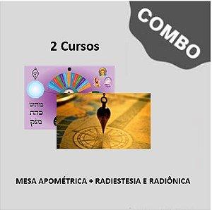 1.5.DOIS (2) CURSOS só R$ 460,00: Curso de Mesa para Apometria + Curso de Radiestesia Completo