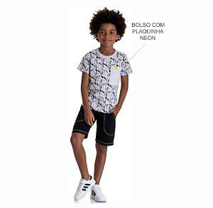 Kit 3 Conjuntos Camiseta + Bermuda de Moletinho 4 a 8