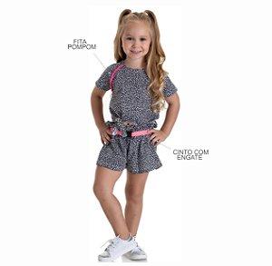 Kit 3 Shorts de Meia Malha Rotativa com Cinto 4 a 8