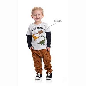 Kit 3 Camisetas Meia Malha Best Friends 1/3