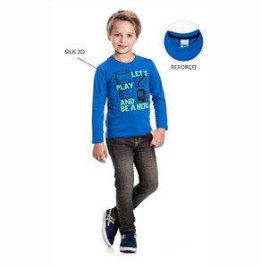 Kit 3 Camisetas Meia Malha Silk 3D 4/8