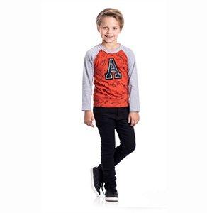 """Kit 3 Camisetas Meia Malha """"A"""" 4/8"""