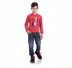 Kit 3 Calças Moletinho Jeans Com Bolso 4/8