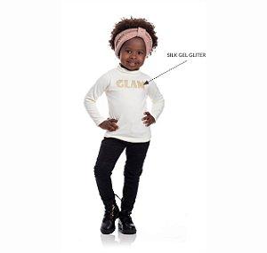 Kit 3 Blusas Cotton Glam Silk Gel Glitter 1/3