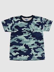 Kit 3 Camisetas Meia Malha Camuflada 1 a 3