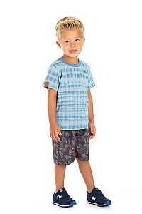 Kit 3 Camisetas Meia Malha Tie Dye 1 a 3