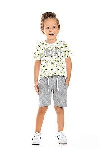 Kit 3 Camisetas Meia Malha Aloha Verão 1 a 3