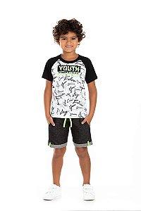 Kit 3 Conjuntos Youth Neon 4 a 8