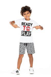 Kit 3 Camisetas Meia Malha Play 4 a 8