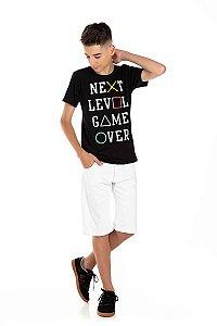 Kit 3 Camisetas Meia Malha Next Level 10 a 14