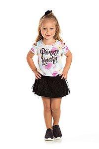 Kit 3 Shorts Saia Tule Glitter e Meia Malha 1 a 3