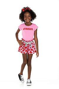 Kit 3 Blusas Cotton Blogger Love 4 a 8