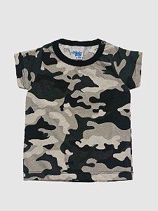 Kit 3 Camisetas Meia Malhada Camuflada P a G