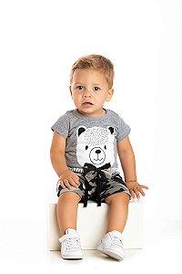Kit 3 Camisetas Meia Malha Urso Gravata P a G
