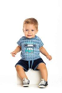 Kit 3 Camisetas Meia Malha Tie Dye Viagem de Verão P a G