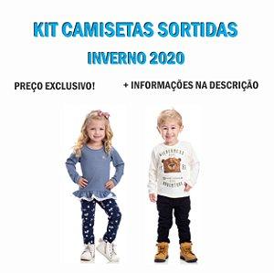 Kit 292 Camisetas Manga Longa R$8,90 Cada