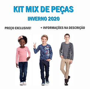 Kit 240 Peças Inverno R$9,90 cada