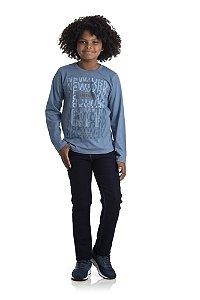 Kit 3 Camisetas Meia Malha Brooklin com Reforço 10 a 14