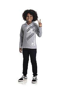Kit 3 Camisetas Meia Malha com Capuz 10 a 14